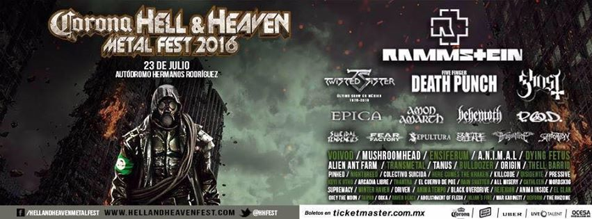 HELL AND HEAVEN 2016, 23 de Julio, ¿Estás lista?