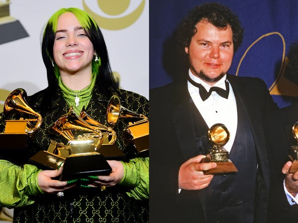 Billie Eilish y Christopher Cross comparten un récord en los Premios Grammy